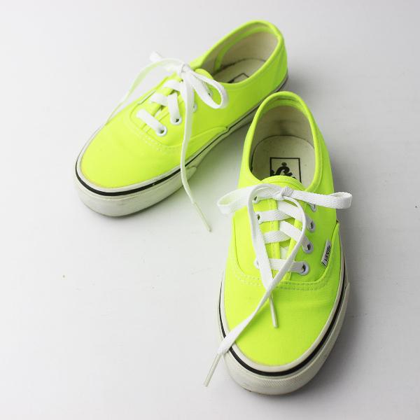 VANS バンズ Authentic オーセンティック スニーカー US5.5/ネオンイエロー 靴 くつ 男女兼用【2400011404398】