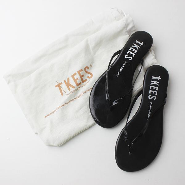 美品 TKEES ティキーズ ビーチ サンダル EUR36/ブラック トングサンダル 靴 くつ【2400011404435】