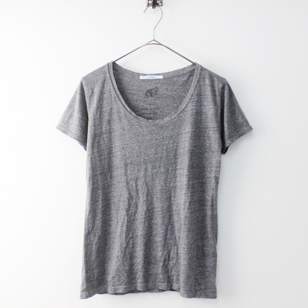 JOURNAL STANDARD relume ジャーナルスタンダードレリューム Uネック Tシャツ F/グレー 無地 半袖 トップス【2400011406019】