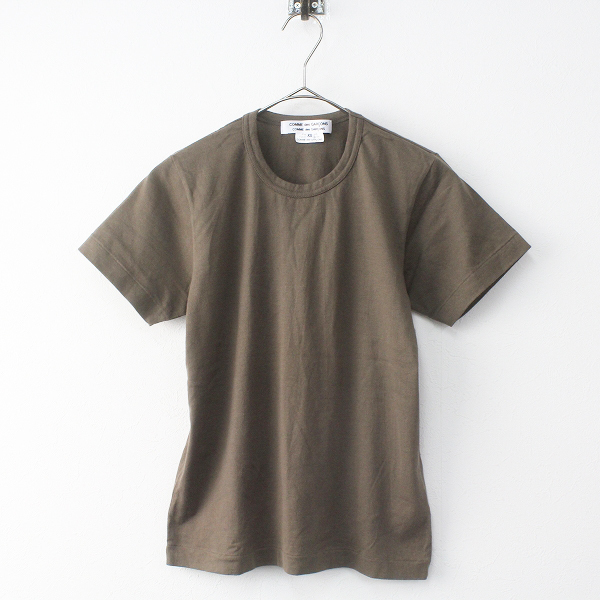 コムコム COMME des GARCONS コムデギャルソン コットン 半袖 Tシャツ XS/ブラウン カットソー プルオーバー Tee【2400011407221】