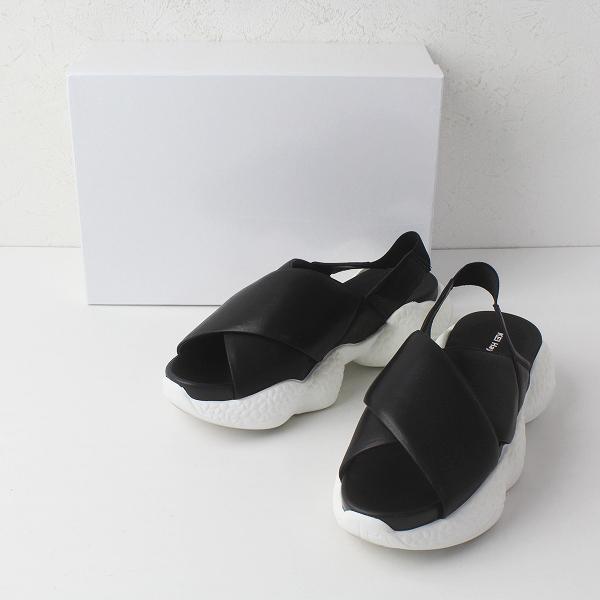 定価2.5万 KEI Hayama PLUS ケイハマプリュス ハイテクソール クロスベルト レザー サンダル M/ブラック 黒 靴 シューズ【2400011410726】