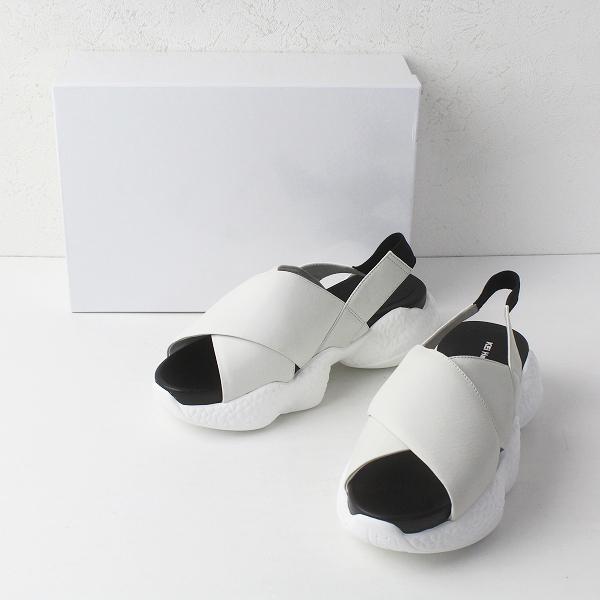 未使用品 定価2.5万 KEI Hayama PLUS ケイハマプリュス ハイテクソール クロスベルト レザー サンダル M/ 白 靴 シューズ【2400011410733】