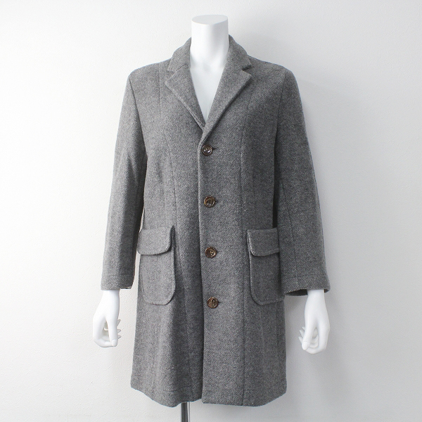 tricot COMME des GARCONS トリココムデギャルソン ウール混 ロング コート/グレー アウター上着 羽織り【2400011412843】