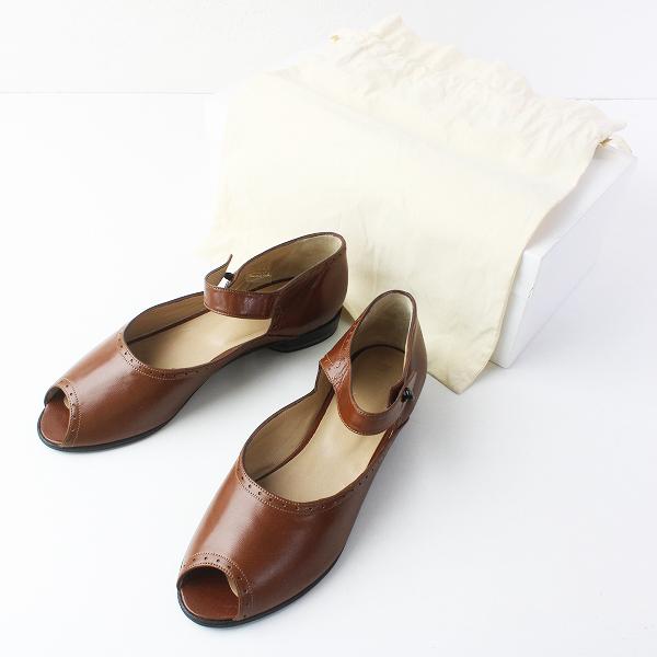 未使用品 DANIELA GREGIS ダニエラグレジス レザー ストラップ サンダル 7.5/ブラウン 茶 靴 シューズ【2400011429339】