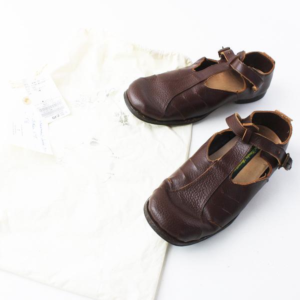美品 定価15.9万 Js Luxe Paul harnden ポールハーデン 2017SS Fishermans sandal PH10 Tストラップ サンダル 5.5/茶【2400011429346】