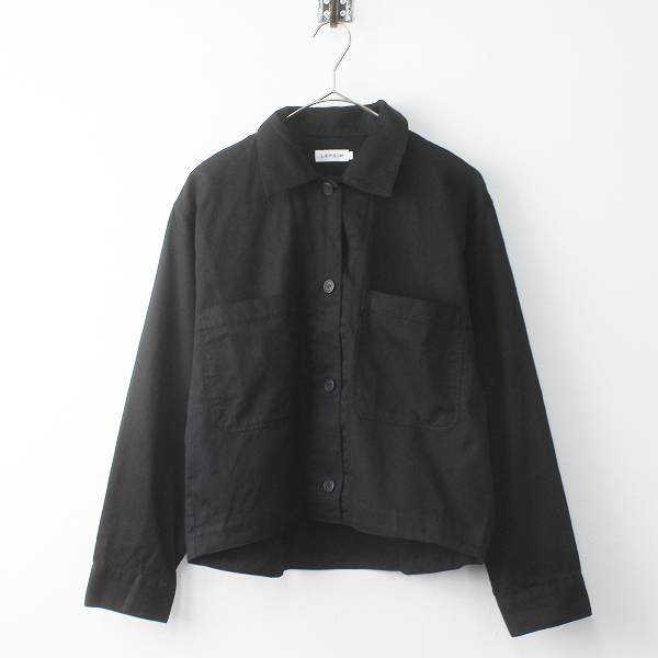 LEPSIM レプシィム コットン テールカット ブルゾン F/ブラック アウター 上着 羽織り ジャケット 前後差【2400011436511】