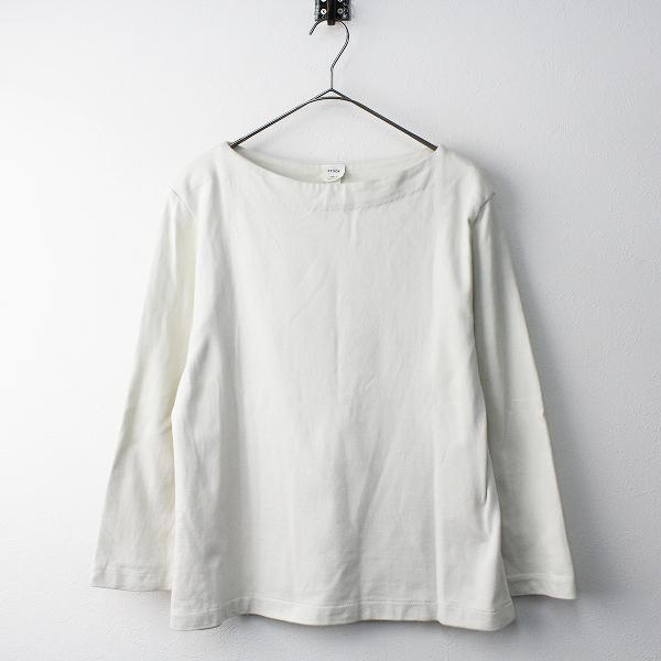 2017 YAECA STOCK ヤエカ ストック 87061 ボートネック バスクシャツ M/オフホワイト トップス【2400011439338】