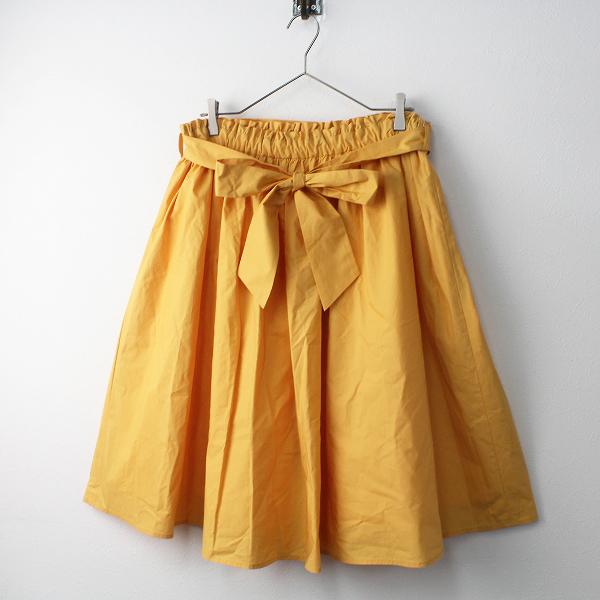 未使用品 2019SS 定価1.5万 大きいサイズ franche lippee black フランシュリッペ ブラック 春色 ギャザー スカート 3L【2400011443953】