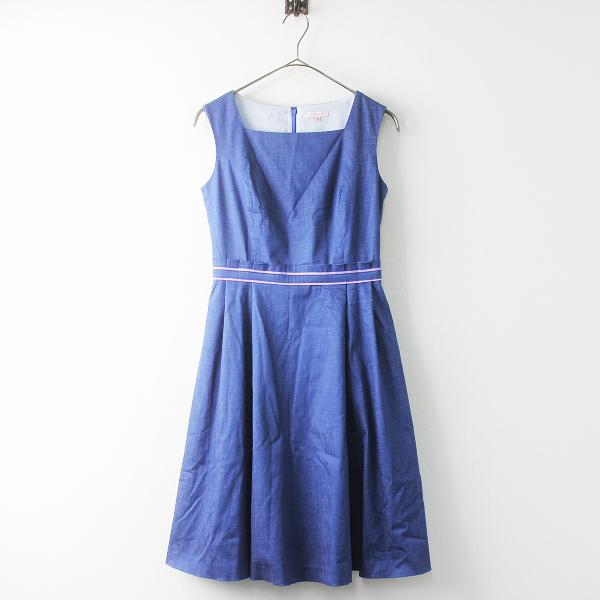 美品 2018SS 春夏 TOCCA トッカ OPTOYM0570 ランドリーライン DEEP BLUE ドレス 0/デニム ワンピース【2400011444370】-.