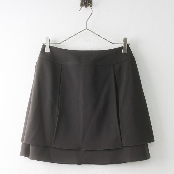 FOXEY NEW YORK フォクシーニューヨーク 26481 ダブル ストレッチ スカート 38/ブラック ボトムス【2400011445483】