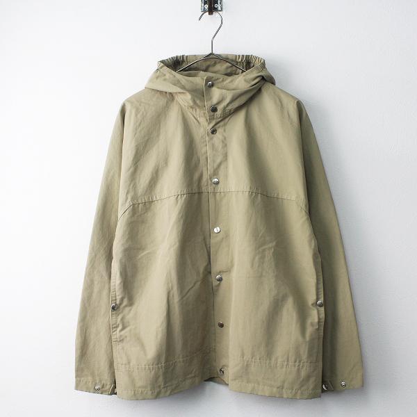 YAECA ヤエカ 60/40 クロス フードシャツ XS/カーキ フーディー ハオリ スナップボタン パーカー ドルマン【2400011445698】