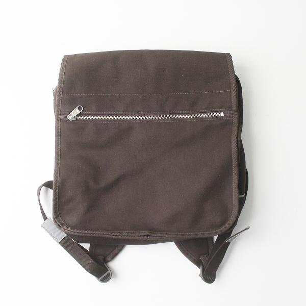 marimekko マリメッコ キャンバス リュック/ ブラウン 茶 鞄 帆布 かばん カジュアル バッグ【2400011446527】