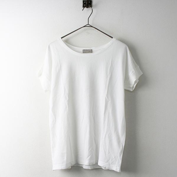 MARGARET HOWELL マーガレットハウエル コットン Tシャツ 2/ホワイト トップス 無地 ラウンドネック【2400011447050】