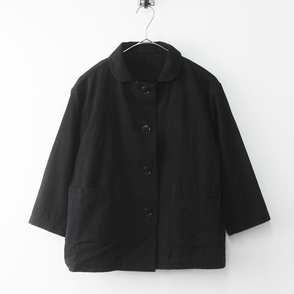 定価3万 Lin francais d'antan ランフランセダンタン Moreau Short Jacket ショート ジャケット/ブラック アウター【2400011447272】