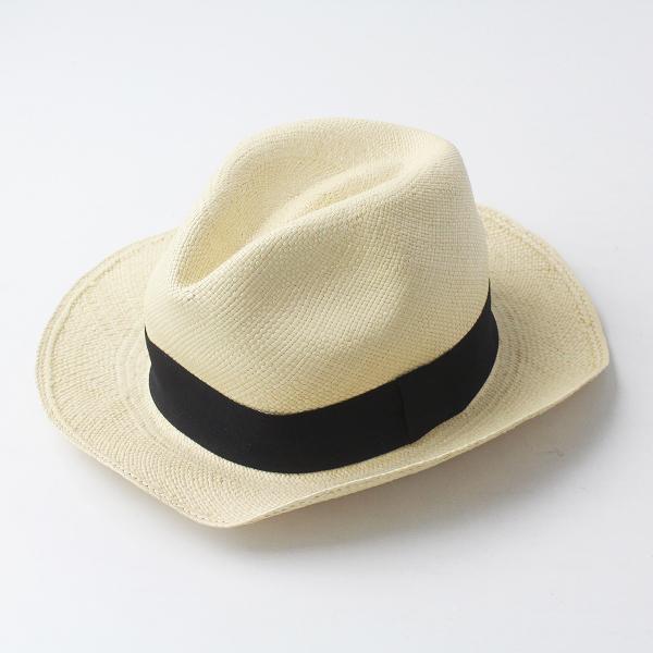 美品 Ecua-Andino エクアアンディーノ ペーパー リボン ハット エクアドル製/帽子 ぼうし 小物【2400011447890】