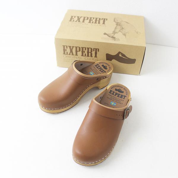 EXPERT エキスパート ウッドソール サボ サンダル 1151 36/キャメル 靴 くつ シューズ【2400011448033】