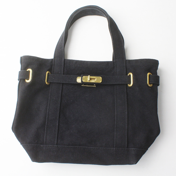 sita parantica シータパランティカ キャンバス トートバッグ/ブラック 黒 かばん 鞄 BAG【2400011451163】