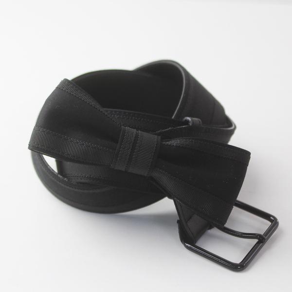 TO BE CHIC トゥービーシック リボン ベルト/ ブラック 服飾小物 アクセント カジュアル【2400011452337】