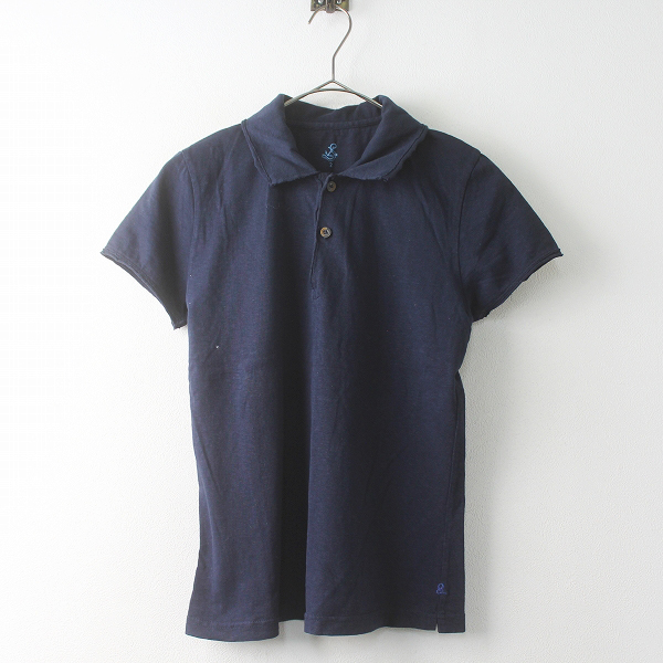 45R フォーティーファイブ コットン 半袖 ポロシャツ 2/ネイビー ショートスリーブ トップス【2400011458377】