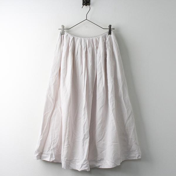 未使用 定価2.9万 Sally Scott サリースコット コットン リネン タック フレア スカート 7/ピンク バックジップ【2400011460455】