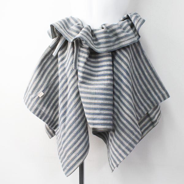 未使用 USAATO うさと 手織り 天然草木染め 巻きスカート/ネイビー ボトムス ラップ フレア【2400011462770】