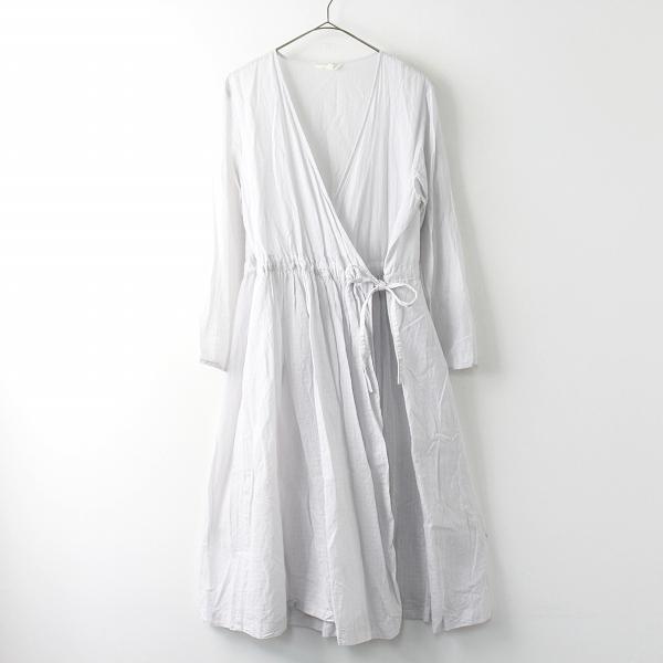 studio CLIP スタジオクリップ フレア カシュクール ワンピース マエアキ M/ライトグレー ドレス 【2400011463005】