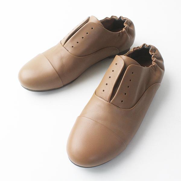 SM2 サマンサモスモス かかとギャザー フラット シューズ M/ブラウン 靴 くつ【2400011464767】