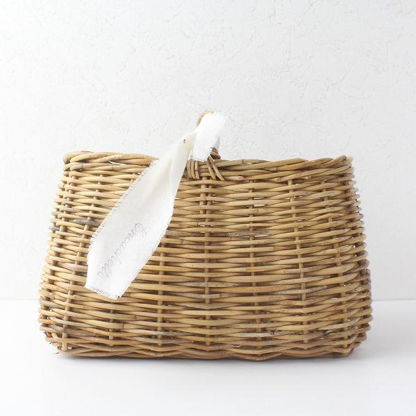 Encachette アンキャシェット ショートハンドル バスケット/ナチュラル かごバッグ 籠 インテリア 雑貨【2400011466631】