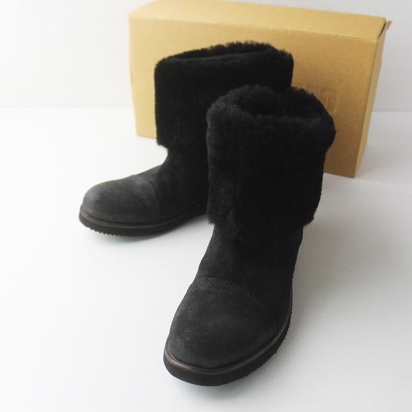 PUNTO PIGRO プントピグロ HARLEY シープスキン ムートン ショート ブーツ 39/ブラック 靴 くつ シューズ【2400011467027】