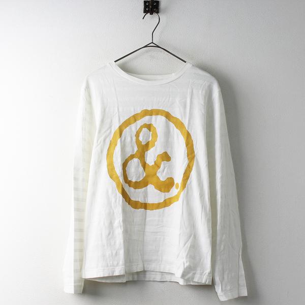 MASTER&Co マスターアンドコー ロゴ 長袖 Tシャツ 1/ホワイト トップス カットソー ボーダー【2400011467430】