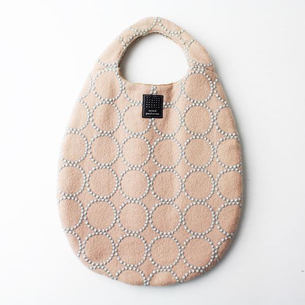 mina perhonen ミナペルホネン tambourine 刺繍 エッグバッグ/egg bag 小物 かばん 鞄 ベージュ【2400011468987】