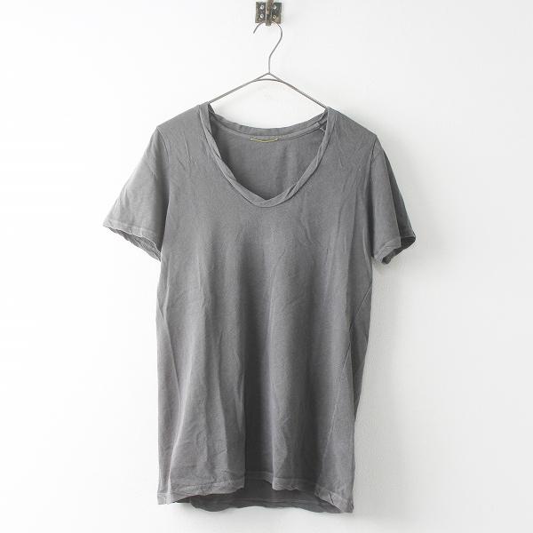 Deuxieme Classe ドゥーズィエムクラス 2019SS Garment Dye Tシャツ 19070500714010/グレー 無地 トップス【2400011469229】-.