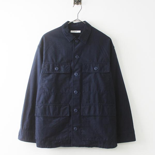CPCM シーピーシーエム コットン フロント ポケット ジャケット S/ネイビー 羽織り トップス【2400011469472】