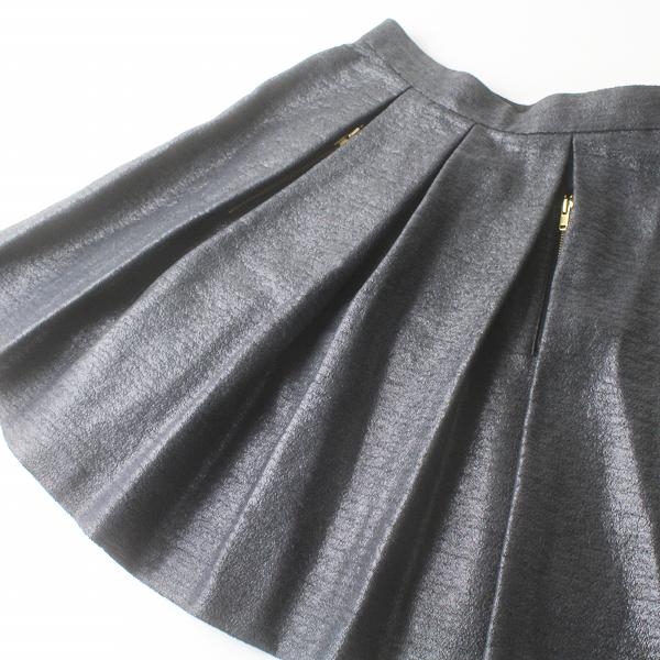 Lois CRAYON ロイスクレヨン 箔プリント プリーツ スカート M/ブラック系 ボトムス【2400011470041】