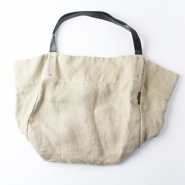 marimekko マリメッコ AKANKANTO ビッグ リネン × レザー トート バッグ/キナリ 鞄 BAG かばん【2400011471659】