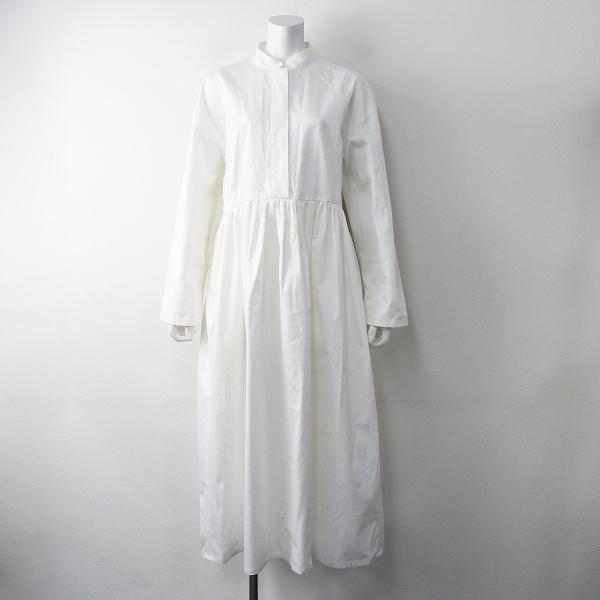 foufou フーフー THE DRESS waltz #06 shirt gather one piece シャツ ギャザー ワンピース 1/ホワイト スタンドカラー【2400011472168】