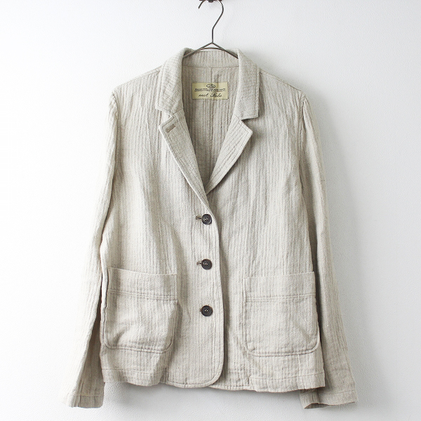 nest Robe ネストローブ リネン 3釦 ジャケット/ベージュ 羽織り 上着 アウター 【2400011472816】