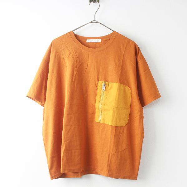 大きいサイズ AS KNOW AS de base olaca アズノウアズドゥバズオオラカ 旅のおともTシャツ O11100 15/オレンジ トップス【2400011473110】