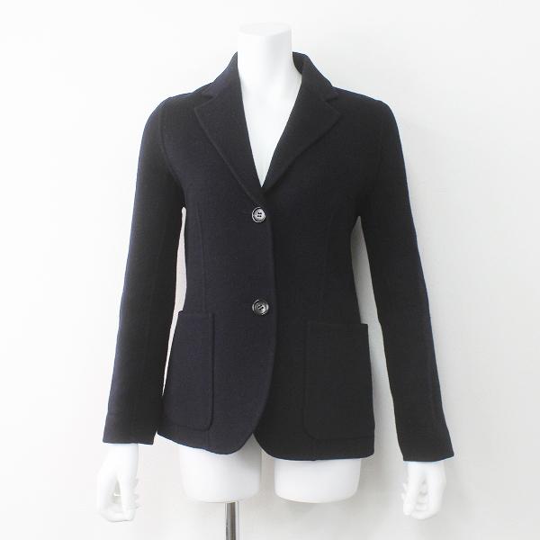 Deuxieme Classe ドゥーズィエムクラス カシミヤ混 ウール ジャケット/ ダーク ネイビー 紺 ステンカラー 上着 羽織り【2400011473400】