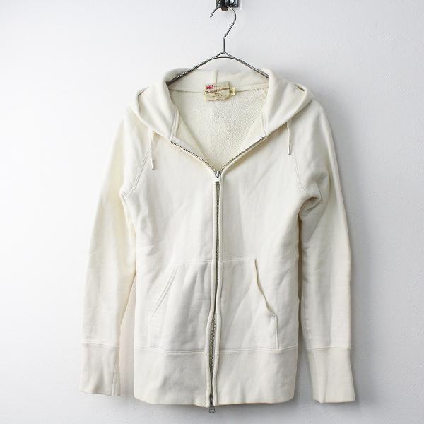 【スプリングセール】TraditionalWeatherwear トラディショナル ウェザーウェア スウェット ジップアップ パーカー S/アイボリー【2400011473974】