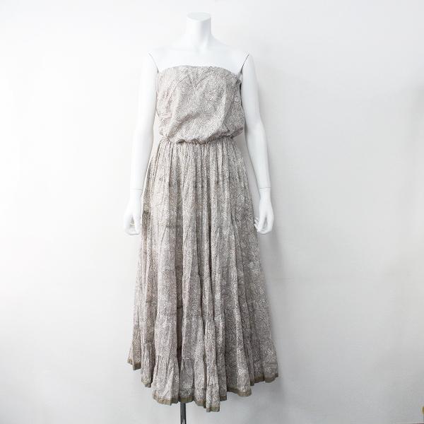 MARIHA マリハ 草原の夢のドレス ベアトップ ワンピース/グレー ドレス ノースリーブ【2400011475077】