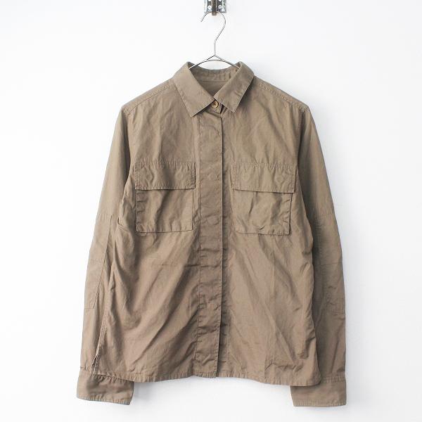MARGARET HOWELL マーガレットハウエル コットン 比翼 ワークシャツ 2/カーキ トップス ブラウス【2400011476043】