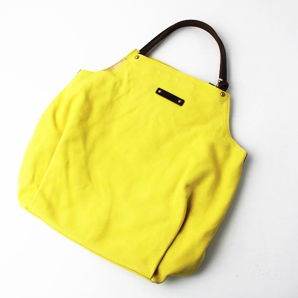 未使用品 Pal'las Palace パラスパレス ヌバックレザー トートバッグ 0/イエロー 黄色 かばん BAG 鞄 牛革 皮革【2400011478450】