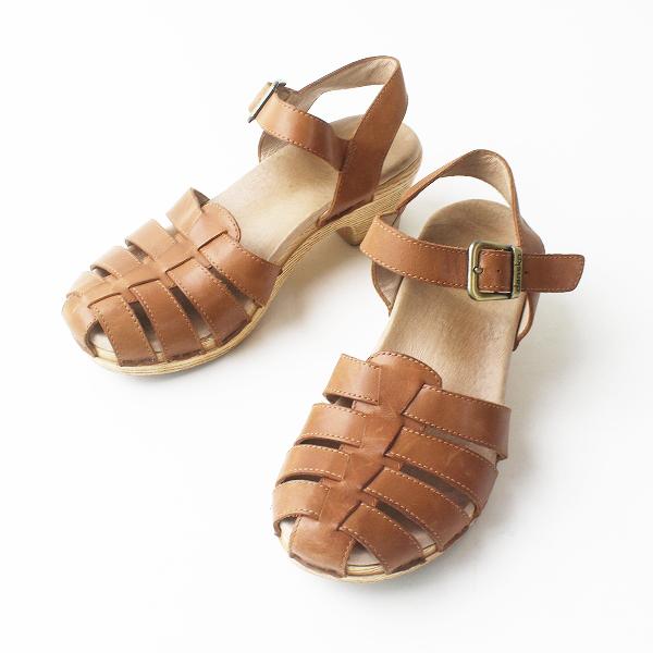 Dansko ダンスコ ウッドソール メッシュ ストラップ サンダル 36/ブラウン シューズ 靴【2400011479228】
