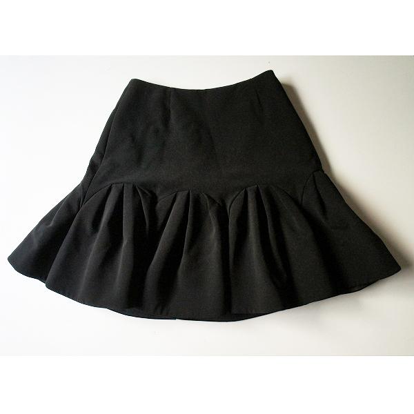 美品 FOXEY NEW YORK フォクシー ニューヨーク 31497 リリーオブバレー ギャザースカート 38 ブラック ///【2400011479549】