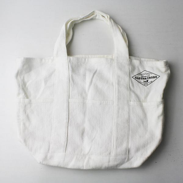 Cloth&Cross クロスアンドクロス コットン リネン トートバッグ/ホワイト 手提げ BAG カバン【2400011482822】