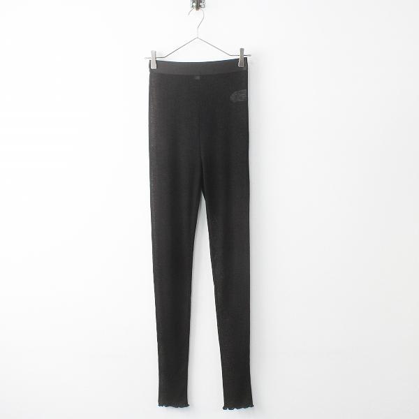 極美品 定価2万 ELIN エリン 2019 Jersey leggins トリアセ ジャージー レギンス 36/ブラック 黒 ウエストゴム【2400011484666】