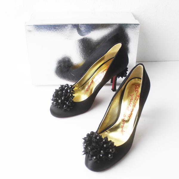 Odette e Odile オデットエオディール モチーフ付 パンプス 23.5/ブラック 靴 くつ ハイヒール【2400011484826】