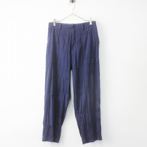 Y's Yohji Yamamoto ワイズ ヨウジヤマモト ステッチワーク コットン ロング パンツ 2/ブルー ボトムス ジップフライ【2400011487100】