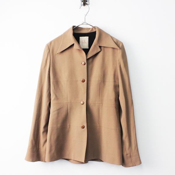 大きいサイズ Sybilla シビラ ウール ハーフ コート 40/ブラウン アウター 上着 長袖 羽織り【2400011487407】